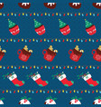 christmas seamless pattern with sweet desserts vector image vector image