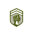 Clenched Fist Dogtag Crest Retro vector image