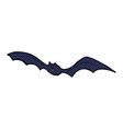 comic cartoon bat vector image vector image