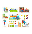 couples in supermarkets shopping malls vector image vector image