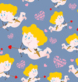 Cupid and heart seamless pattern Romantic ornament vector image
