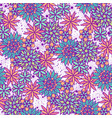 cute doodle seamless floral pattern vector image vector image