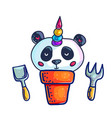 cute little pandicorn vector image