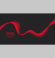 dark gray background with red wave design vector image