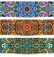 Festive Ornamental banner Ethnic tribal Set vector image vector image