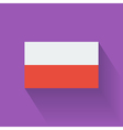 Flat flag of Poland vector image