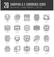 Flat line icons set Trendy Modern thin linear vector image vector image