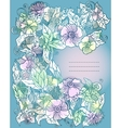 floral background flowers and leaves vector image