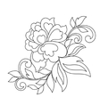 flower ornament hand drawn vector image vector image