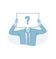 frustration doubt question concept vector image