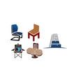 furniture template set vector image