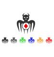gambling spectre devil icon vector image vector image