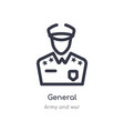 general outline icon isolated line from army vector image vector image