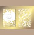 golden floral cards set vector image