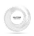 halftone circle dotted frame round border vector image vector image