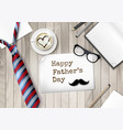 happy holiday fathers day background colorful tie vector image vector image