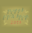 happy new year 2019 folk decor vector image vector image