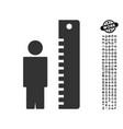 height meter icon with job bonus vector image vector image