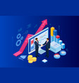 isometric business-to-business sales businessmen vector image