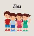kids cartoon design vector image vector image