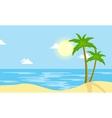 Landscape of beach with sun cartoon vector image