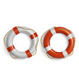 lifebuoies icons set life preserver or saver red vector image vector image