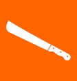 machete or big knife white icon vector image vector image