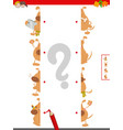 match halves of dog characters educational game vector image vector image