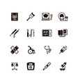 medical devices and equipment icons vector image vector image