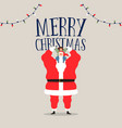 merry christmas card of santa claus with kid vector image