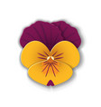 paper art pansy vector image vector image