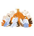 pilgrims pray at mount arafat hajj isolated icon vector image vector image