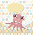 Polka dot background pattern Funny cute octopus vector image vector image