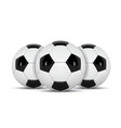 realistic soccer ball or football ball on white vector image vector image