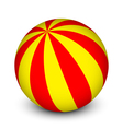 red and yellow ball vector image vector image