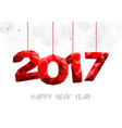red new year 2017 design in low poly vector image vector image