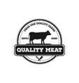 retro vintage cattle angus beef emblem label vector image vector image