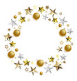 round concept with golden decorations vector image