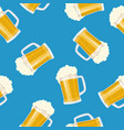 seamless pattern mug of beer vector image vector image