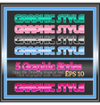 Set Of Bright Colorful Graphic Styles vector image