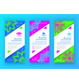 set of business colorful bright banners vector image