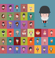 set people icons in flat style vector image vector image