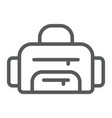sport bag line icon sport and baggage fitness vector image vector image