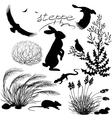 steppe vector image vector image