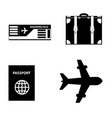 summer travel icon set isolated on white vector image vector image