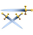 sword crushader cartoon vector image vector image