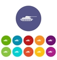 Tank set icons vector image vector image