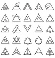 Triangle experimental icons vector image vector image