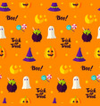 trick or treat seamless pattern vector image