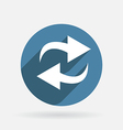 update Circle blue icon with shadow vector image